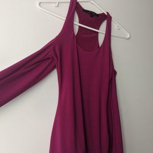 Guess Silas Cold Shoulder Top Purple Size Small